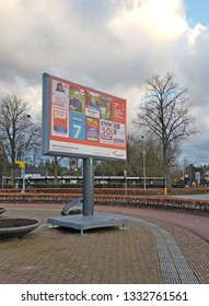 NUNSPEET, 7 MARCH 2019 - Billboards with election campaign posters for the Provinciale Staten elections in The Netherlands are used to increase awareness for the upcoming Dutch elections.