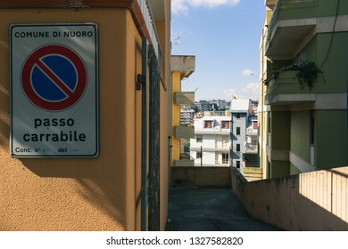 Nuoro - February 2019 - The city was built between '60 and '70, the old buildings appears deeply sleazy