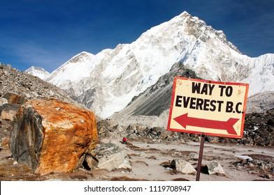 Nuptse peak near Gorak Shep village - Way to Everest base camp - Nepal