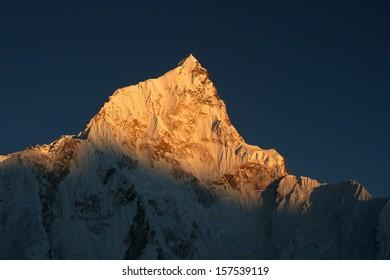Nuptse at sunset, Himalaya, Nepal