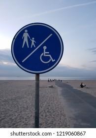 Nur Fußgänger und Rollstuhlfahrer dürfen ans Meer
