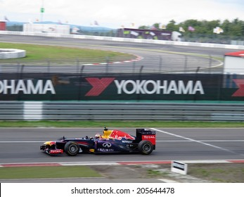NURBURG, GERMANY - JULY 13, 2014: Swiss racing driver Sebastien Buemi driving the Red Bull Formula 1 car during the World Series by Renault event on July 13, 2014 at Nurburg, Germany.