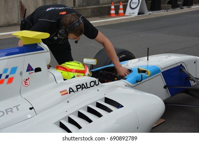 NURBURG, GERMANY - July 14: Alex Palou in the No. 10 Teo Martin Motorsport Dallara T12 race car in World Series Formula V8 3.5 during round 4 of the FIA WEC on July 14, 2017 at Nurburg, Germany.