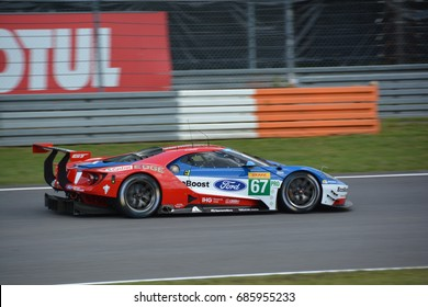 NURBURG, GERMANY - July 14: No. 67 Ford GT of Ford Chip Ganassi Team UK during round 4 of the FIA World Endurance Championship on July 14, 2017 at Nurburg, Germany.