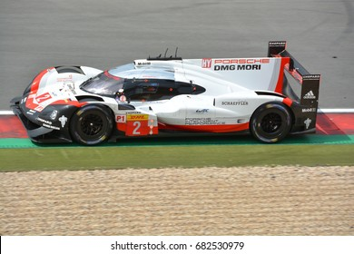 NURBURG, GERMANY - July 16: Brendon Hartley driving the No. 2 Porsche LMP Team 919 Hybrid during round 4 of the FIA WEC on July 16, 2017 at Nurburg, Germany.