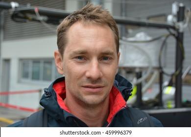NURBURG, GERMANY - JULY 21: Austrian race car driver Mathias Lauda, son of NIki Lauda during round 4 of the FIA World Endurance Championship on July 21, 2016 at Nurburg, Germany.