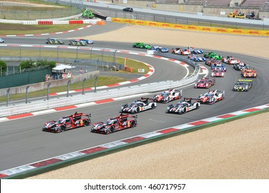 NURBURG, GERMANY - JULY 24: The cars lining up for the start of the race during round 4 of the FIA World Endurance Championship on July 24, 2016 at Nurburg, Germany.