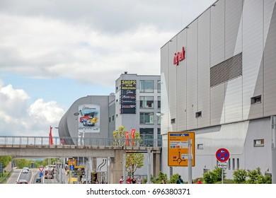 Nurburg, Germany - May 20, 2017: Race track Nurburgring - info center, ring werk