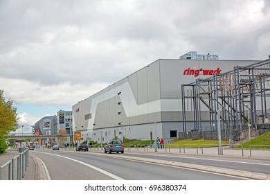 Nurburg, Germany - May 20, 2017: Road to race track Nurburgring - Ring tack