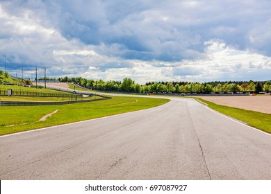 Nurburg, Germany - May 20, 2017: Race track Nurburgring - speedway with curves