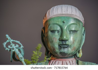 Nure Botoke Jizo  Bodhisattva Bronze statue at Zenko-ji Temple complex in Nagano.