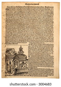 Nuremberg Chronicle, dated 1483, Latin edition by Hartman Schedel.