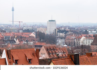 Nuremberg, Germany - 17.02.2018 : old town houses, cityscape