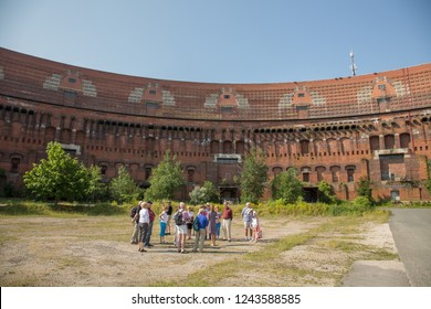 Nuremberg, Germany - 7/6/2013:  Nuremburg, , Germany - 7/6/2013:  A tour group at the Documentation Center, Nazi Party Rally Grounds, in Nuremberg, Germany
