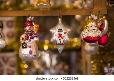 NUREMBERG, GERMANY - DECEMBER 15, 2013: Christmas decoration items, sold in stores