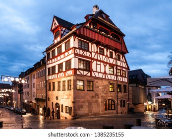NUREMBERG, GERMANY - DECEMBER 4, 2011: House of Albrecht Durer, German Renaissance painter and printmaker. Historical building in the old city of Nuremberg, Germany.