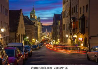 Nuremberg, Germany, evening old town