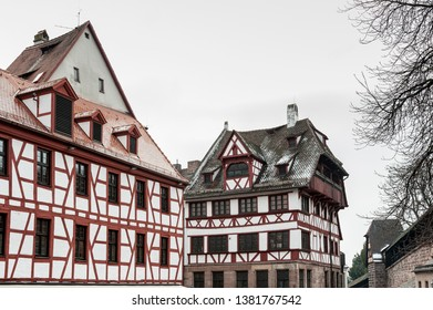 NUREMBERG, GERMANY - MARCH 04, 2018: Albrecht Durer's House. A famous building in the city - Nuremberg - Germany