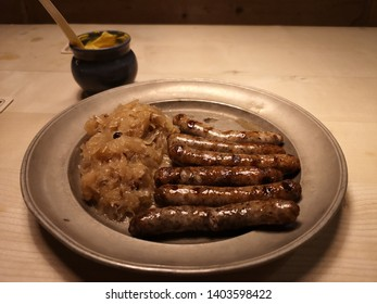 Nuremberg, Germany: March 2, 2019 The Nuremberg Bratwurst, discover why these delicious sausages are known and loved far beyond the borders of Germany. If you're visiting Nuremberg, Don't miss.