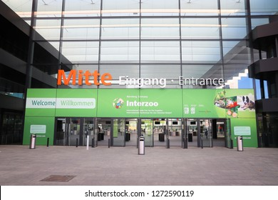 NUREMBERG, GERMANY - MAY 7, 2018: Messezentrum (Convention Center) in Nuremberg, Germany. The venue hosts multiple notable international trade fairs including Interzoo.