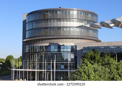 NUREMBERG, GERMANY - MAY 7, 2018: Messezentrum (Convention Center) in Nuremberg, Germany. The venue hosts multiple notable international trade fairs.