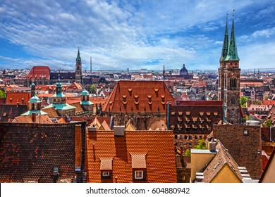 Nuremberg, Germany, old town houses, cityscape
