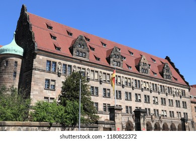 Nuremberg, Germany - Palace of Justice where Nuremberg Trials took place after World War 2. Currently: regional court, local court and the public prosecutor's office.