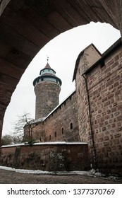 The Nuremberg Imperial Castle (Keiserburg) and its Sinnwell tower from Holy Roman Empire - one of the main sights of the city and symbol of Nuremberg - Germany