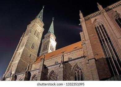 Nuremberg at night - Church of St. Sebald