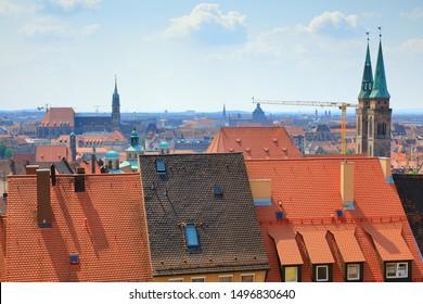Nuremberg skyline, Nuremberg (Nürnberger), Bavaria (Bayern), Germany (Deutschland)