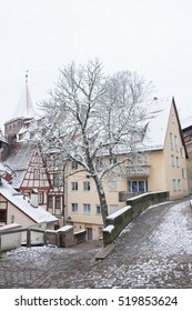 Nuremberg in winter with snow