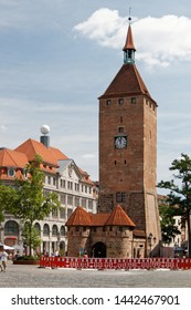 Nuremberg/Germany-24/6/2012: The city during Euro 2012 Football Cup. Completely rebuilt Old Town