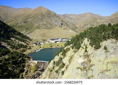 Nuria as seen from the Queralbs to Vall de Nuria Trail, Pyrenees mountain range, Spain