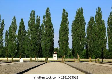 Nurnberg, Dachau Concentration camp / Germany - July 2013:  Dachau concentration camp, the first Nazi concentration camp opened in Nazi Germany
