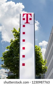 Nurnberg, Germany, June 3, 2018: T-Mobile is the brand name used by the mobile communications subsidiaries of the German telecommunications company Deutsche Telekom.