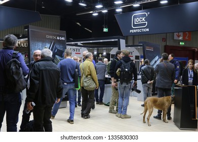 NURNBERG, GERMANY - MARCH 8: Glock stand at IWA 2019 & Outdoor Classics exhibition