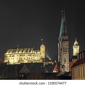 Nurnberg in the night - view to the castle