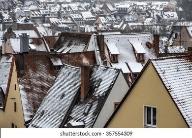 Nurnberger roofs in winter