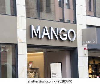 NURNBERG,GERMANY- JULY 5 2016: A MANGO clothes fashion shop. Mango is owned by Punto FA, S.L., based in Barcelona, Spain and designs, manufactures and markets clothes and accessories.