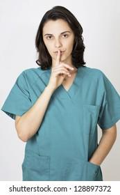 nurse asks for silence