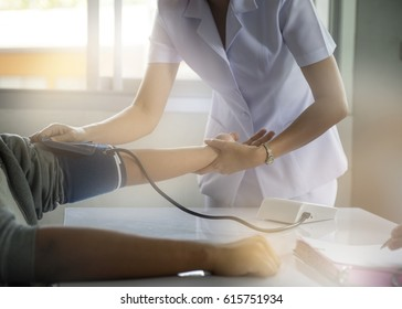 Nurse and patient, hospital