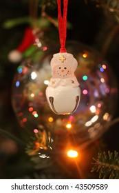 Nurse Snowman Ornament