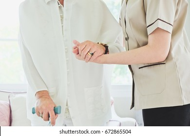 Nursing home, Nurse assisting a senior patient to walk, senior lifestyle