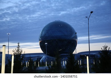 Nur-sultan (Astana), Kazakhstan - 05.17.2019: Nur Alem Pavilion - The Sphere - Museum of The Future
