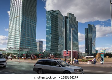 Nur-Sultan (Astana), Kazakhstan, 19.08.2017 - skyscrapers of the capital of Kazakhstan, Nur-Sultan (Astana)