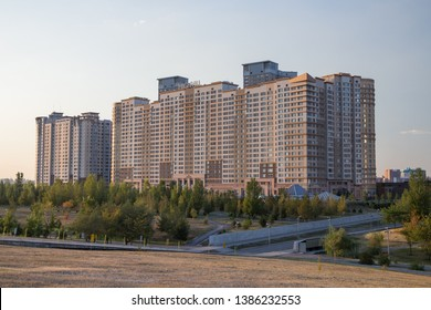 Nur-Sultan (Astana), Kazakhstan, 23.08.2017 - skyscrapers of the capital of Kazakhstan, Nur-Sultan (Astana)