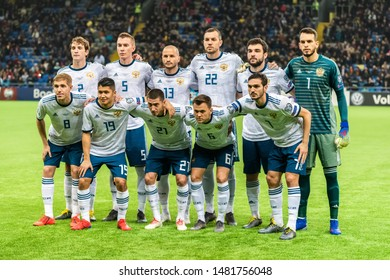Nur-Sultan, Kazakhstan – March 24, 2019. Team photo of Russia national football team ahead of UEFA Euro 2020 qualification match Kazakhstan vs Russia (0-4) in Nur-Sultan.