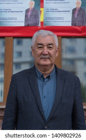 Nur-Sultan, Kazakhstan - May 28 2019: Amirzhan Kosanov, Independent Opposition Candidate for President of Kazakhstan