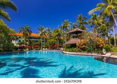 Nusa Dua resort in Bali Indonesia - nature vacation background
