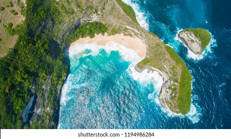 Nusa penida island is one of the tourist attractions. Of Bali Kelingking beach angle billabong broken beach